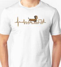 Dachshund Heartbeat ornament Lovers tShirt Unisex T-Shirt