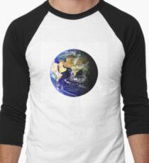 Earth Globe Men's Baseball ¾ T-Shirt