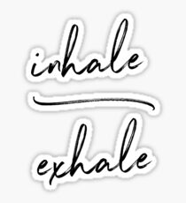 Pegatina Inhale Exhale Yoga