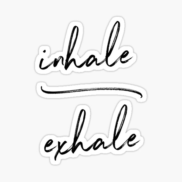 Inhalar Exhalar Yoga Pegatina