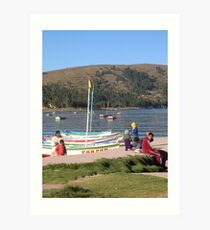Lago Titicaca Art Print