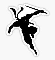 Ninja Silouhette - landing Sticker