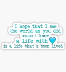 Supermarket Flowers Lyrics Sticker