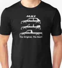The Original, The Best silhouette for VW rabbit / golf mk1 GTI and Caddy enhusiasts T-Shirt