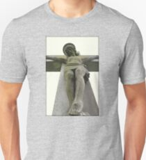 Jesus on Cross Statue Unisex T-Shirt