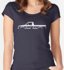 Livin' Retro for VW Caddy Mk1 pickup truck enthusiasts Women's Fitted Scoop T-Shirt