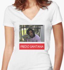 Fredo Santana Women's Fitted V-Neck T-Shirt