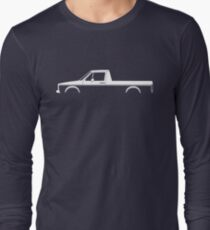 Car silhouette for VW Caddy Mk1 classic pickup enthusiasts Long Sleeve T-Shirt