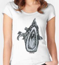 Bio Hazard Fish Women's Fitted Scoop T-Shirt