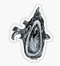 Bio Hazard Fish Sticker