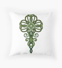 Knotted Shamrock Throw Pillow