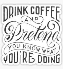 Drink Coffe Sticker