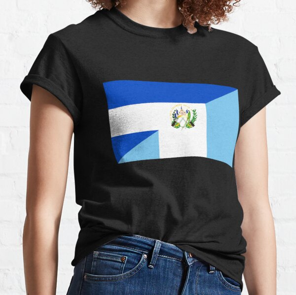 bandera de el salvador guatemala Camiseta clásica