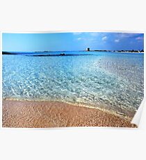 Beach in Porto Cesareo Poster