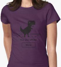 Offline Dinosaur Womens Fitted T-Shirt
