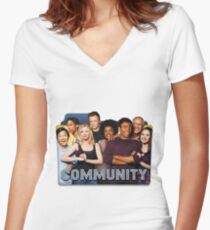 the greendale 7 Women's Fitted V-Neck T-Shirt