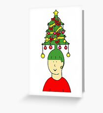 Hairstylist Christmas humour. Greeting Card