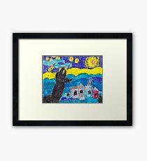 Night sky with stars Framed Print