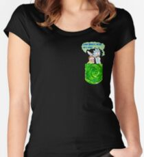 Rick and Morty Pocket Shirt Women's Fitted Scoop T-Shirt