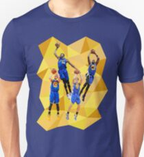 Curry KD Klay Draymond - Warriors - Super Team - Low Poly Unisex T-Shirt