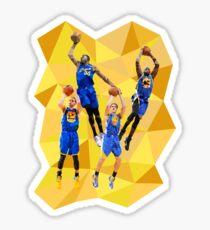 Curry KD Klay Draymond Low Poly Sticker