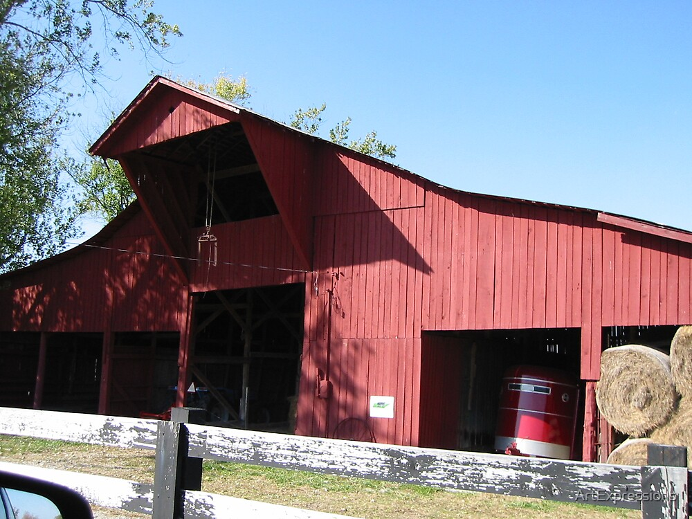 Red Barn by ArtExpressions