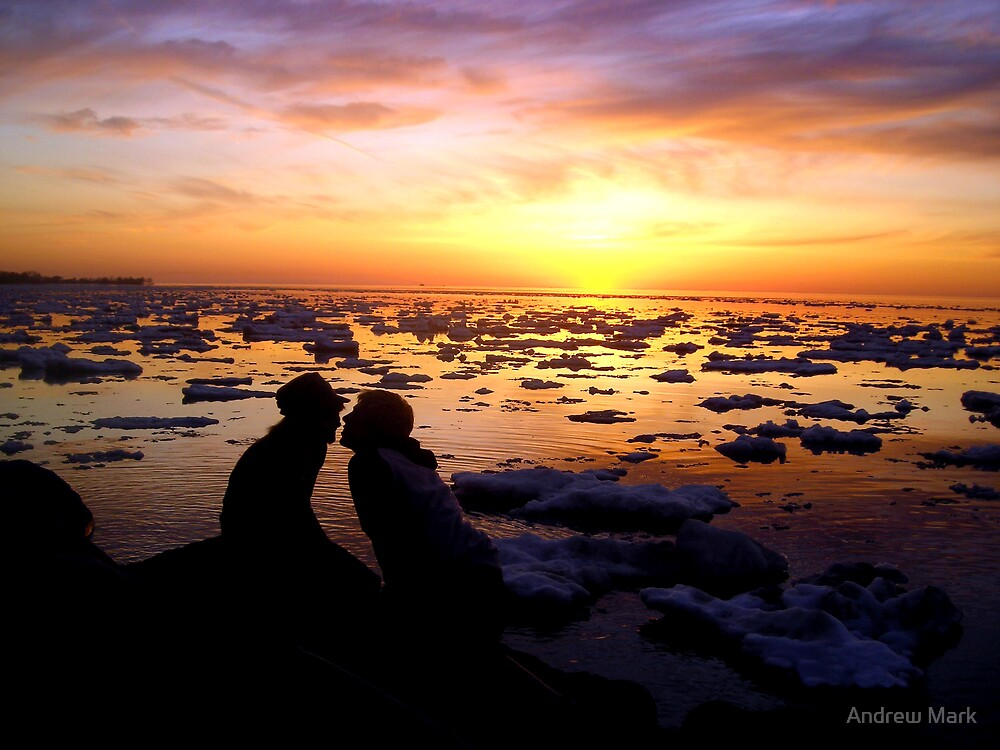 Guys Love Sunsets Too by Andrew Mark