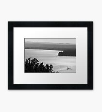 Overlooking Payette Lake - McCall, Idaho (Black/White) Framed Print