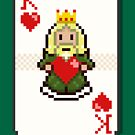Pixel King of Hearts by pencilfury