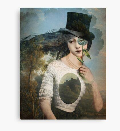 Portrait 11 with Hat Canvas Print