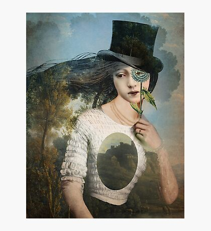 Portrait 11 with Hat Photographic Print