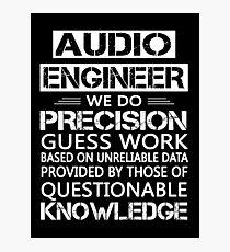 audio engineer Photographic Print