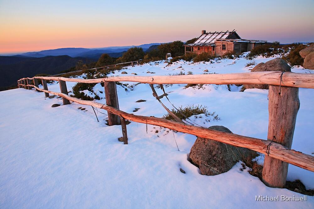winter sunset craig 39 s hut australia by michael. Black Bedroom Furniture Sets. Home Design Ideas