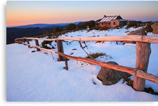 Winter Sunset, Craig's Hut, Australia by Michael Boniwell