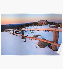 Winter Sunset, Craig's Hut, Australia Poster