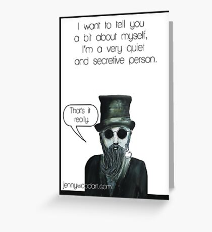 Secretive man Greeting Card