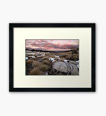 Fall's Creek Winter Sunset, Australia Framed Print