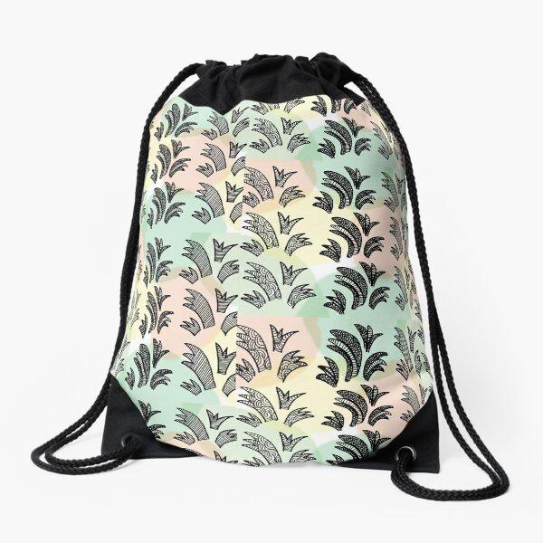 Jaquard with dots Drawstring Bag