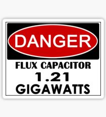 Flux Capacitor - 1.21 Gigawatts Warning Sticker