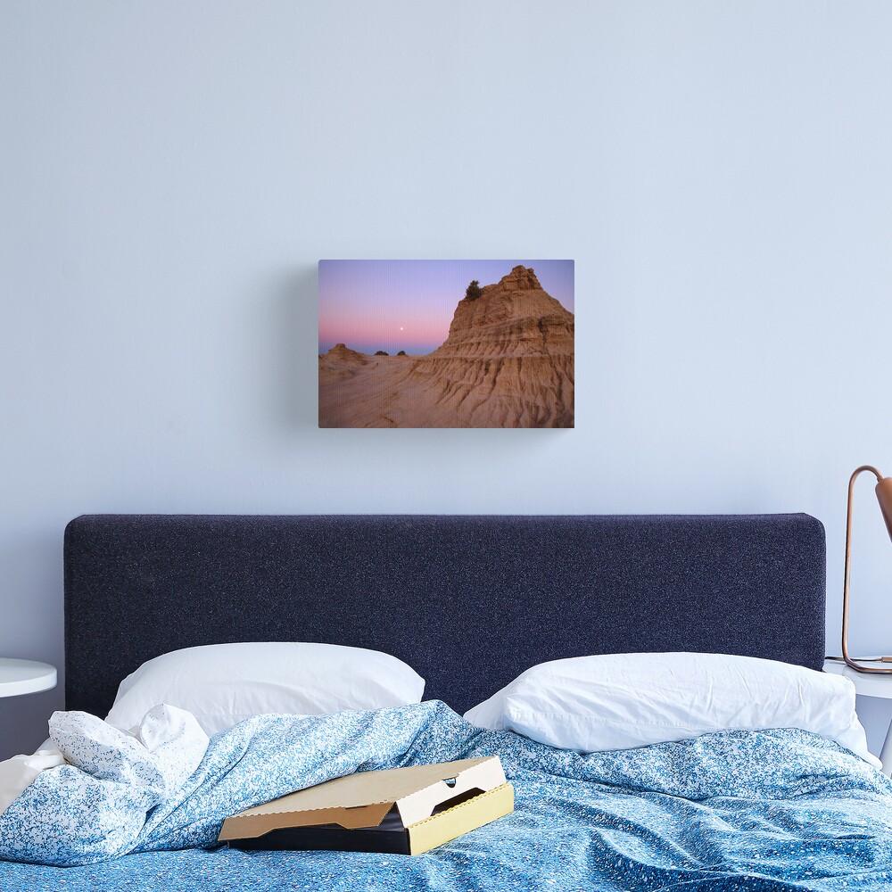 "Moonrise over the ""Walls Of China"", Mungo National Park, Australia Canvas Print"