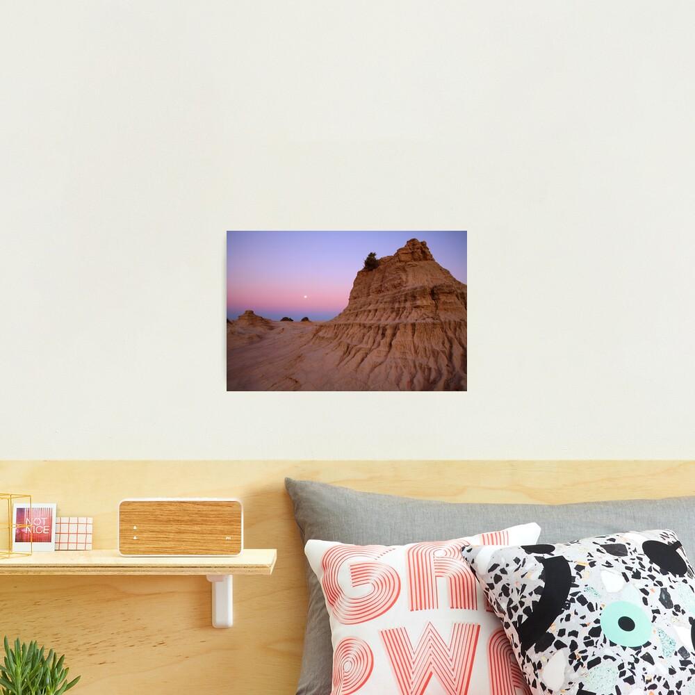 "Moonrise over the ""Walls Of China"", Mungo National Park, Australia Photographic Print"