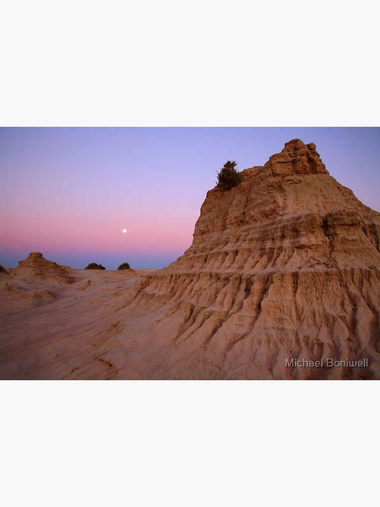 "Moonrise over the ""Walls Of China"", Mungo National Park, Australia by Chockstone"