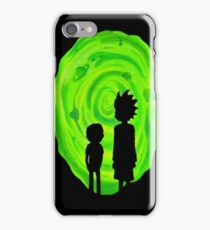 Rick and Morty Portal Silhouette  iPhone Case/Skin