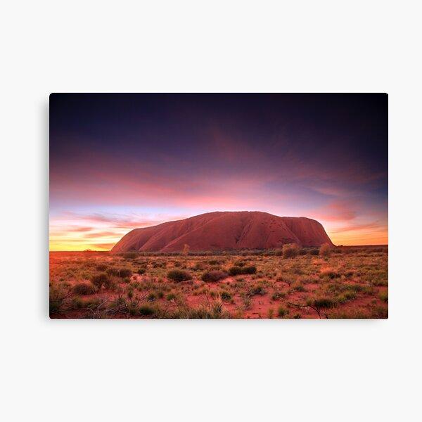 Ayers Rock (Uluru), Sunrise, NT, Australia Canvas Print