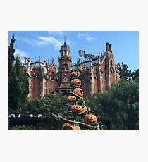 Haunted Mansion - Halloween Photographic Print
