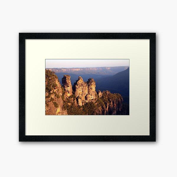 The Three Sisters, Blue Mountains, Australia Framed Art Print