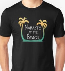 "Funny Summer Time ""Namaste At The Beach""  Unisex T-Shirt"