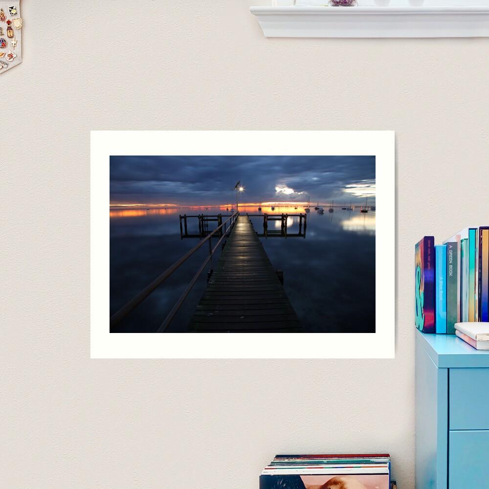 A Winter's Dawn on the Pier, Australia Art Print
