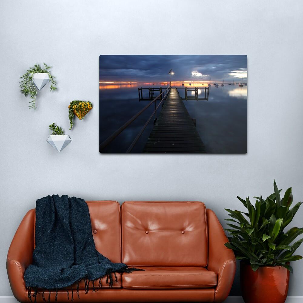 A Winter's Dawn on the Pier, Australia Metal Print