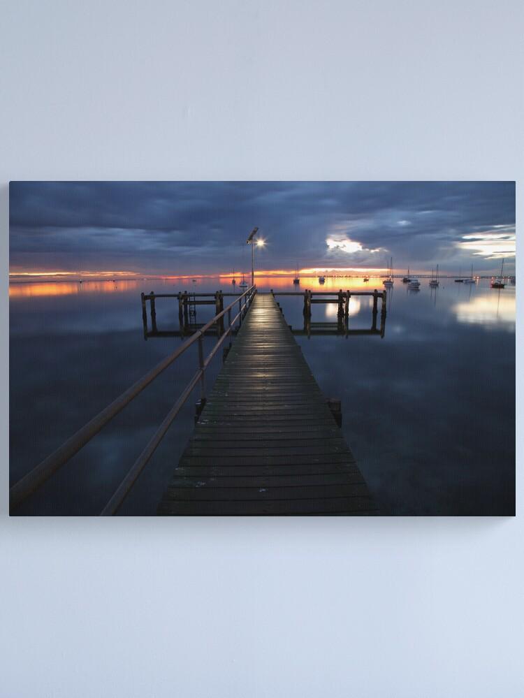 Alternate view of A Winter's Dawn on the Pier, Australia Canvas Print